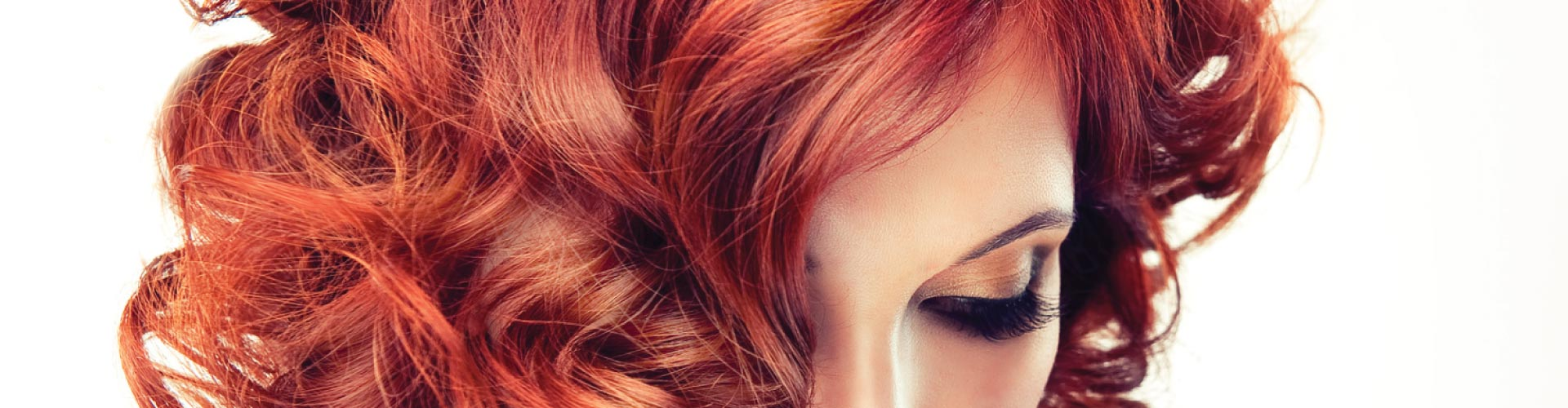 woman with beautiful styled red hair
